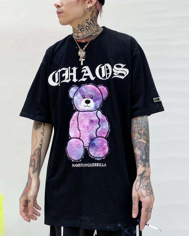 《3色》CHAOSファンタジーモコモコクマTシャツの画像5